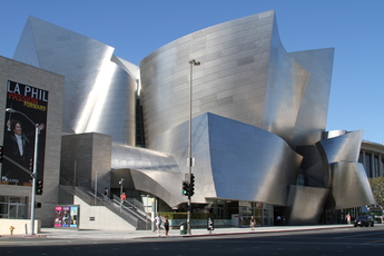 Walt disney concert hall los angeles ca party earth for Modern and postmodern design of building