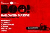 Boo! Halloween Massive - DJ Event   Party   Concert in New York.