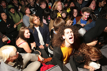 Screaming fans at Bottom of the Hill in San Francisco.