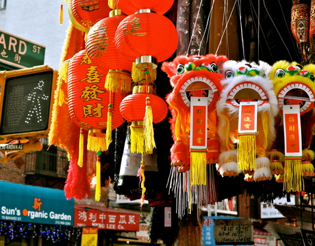 Markets in Chinatown, New York.