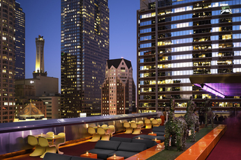 Rooftop Bar at the Standard Downtown in Los Angeles.