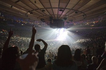 Madison Square Garden Arena Concert Venue In New York