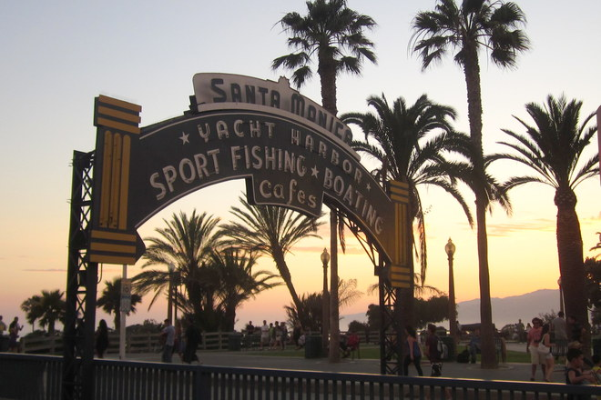 The Santa Monica Pier, near Third Street Promenade.