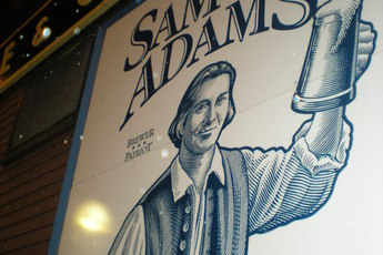 The one and only Sam Adams in Boston.