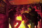 Guys showing off their dance moves at Dolce Vita in Florence.