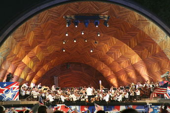 The Hatch Shell - Concert Venue in Boston.