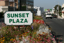 Sunset Plaza - Shopping Area in Los Angeles.