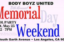 Body Boyz United Memorial Day Weekend Pool Party - Pool Party | Holiday Event in Los Angeles.
