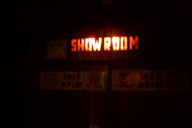 Entrance to the showroom at The Troubadour in Los Angeles