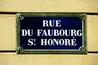 Rue du Faubourg Saint-Honoré - Outdoor Activity | Shopping Area in Paris.