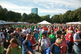Boston Heart Walk  - Running in Boston.