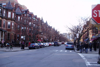 Newbury Street - Outdoor Activity | Shopping Area in Boston.