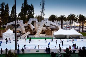 Holiday Ice Skating at Embarcadero Center - Holiday Event in San Francisco.