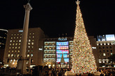 Macy's Tree Lighting - Union Square - Holiday Event in San Francisco.
