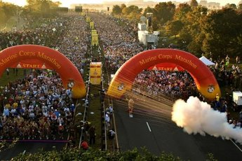 Marine Corps Marathon  - Running in Washington, DC.