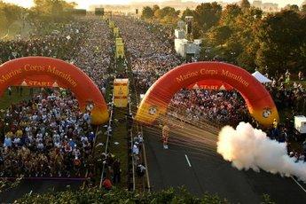 Marine Corps Marathon  - Running in Washington, DC.