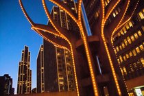 Embarcadero Center Building Lighting Ceremony - Holiday Event in San Francisco.
