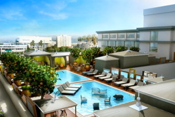 Altitude Pool at the SLS Beverly Hills - Pool Bar   Lounge in Los Angeles.