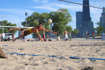 Volleyball at the beach in Chicago!