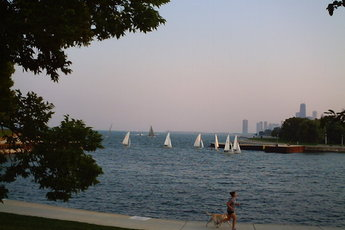 Sailing at Lincoln Park in Chicago.