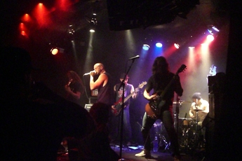 Rocking out at the Viper Room in Los Angeles.