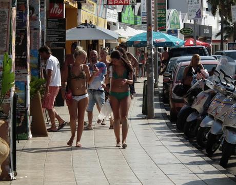 Playa d'en Bossa, Ibiza.