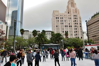 Downtown on Ice - Holiday Event in Los Angeles.