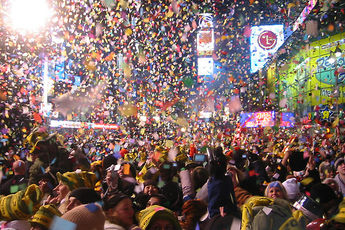 New Year's celebrations at Times Square in New York