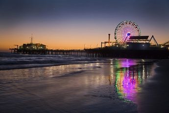 Santa Monica is one of the most scenic summer hoods on the planet.