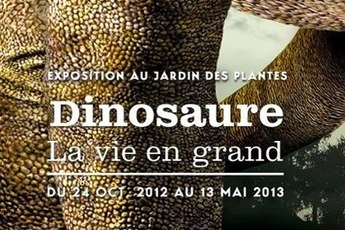 Dinosaure, Le Vie En Grand - Art Exhibit in Paris.