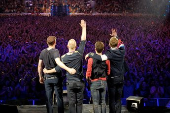 New Year's Eve with Coldplay and Jay-Z at The Barclays Center in Brooklyn, NY