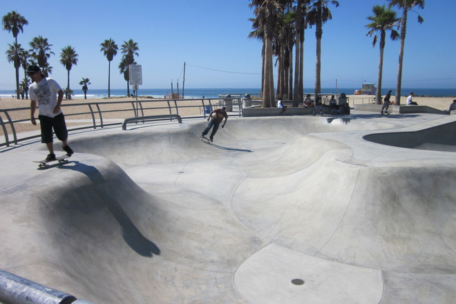The ever-challenging Venice Beach Skate Park