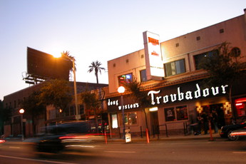 The world famous Troubadour in Los Angeles - an LA music scene landmark.