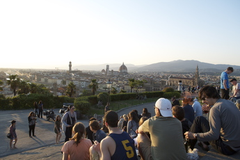 The stunning views from Piazzale Michelangelo in Florence.