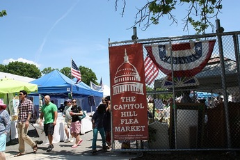 Eastern Market - Flea Market   Outdoor Activity   Shopping Area in Washington, DC.