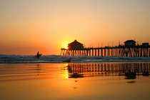 Huntington Beach Pier in Los Angeles.