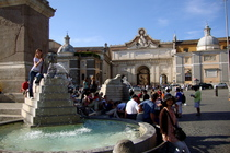 Piazza del Popolo - Shopping Area | Square in Rome.