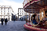 The historic center of Florence and Piazza della Repubblica during the day.