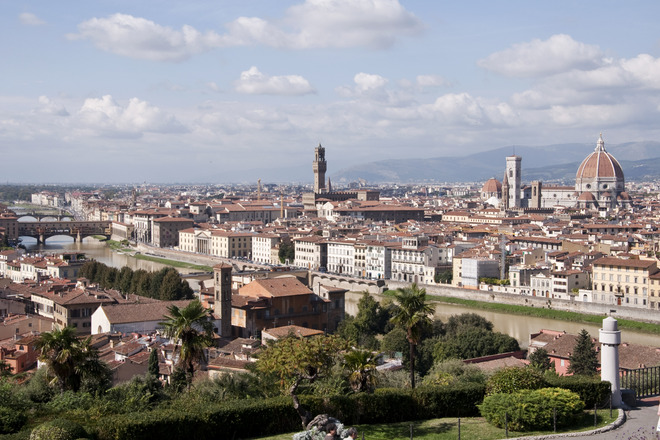 City view of Florence from Piazzale Michelangelo