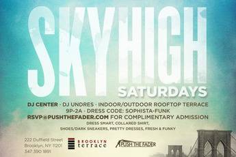 Sky High Saturdays at Brooklyn Terrace - Club Night | DJ Event in New York.