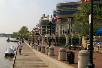Georgetown Waterfront - Nightlife Area | Outdoor Activity | Park | Plaza in Washington, DC.
