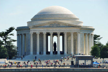 The Thomas Jefferson Memorial on the National Mall in Washington D.C.