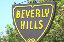 One of the Beverly Hills signs as you enter the neighborhood!