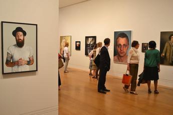 National Portrait Gallery Portrait Award - Art Exhibit in London.