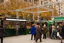 Fira de Santa Llucia Christmas Market - Holiday Event   Shopping Event in Barcelona.