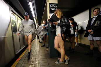 No Pants Subway Ride 2015 Jan 11 2015 New York