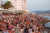 Sunset Strip: Caf del Mar, Caf Mambo, Savannah Beach Club - Nightlife Area | Outdoor Activity in Ibiza.