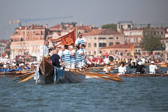 Vogalonga - Rowing in Venice.