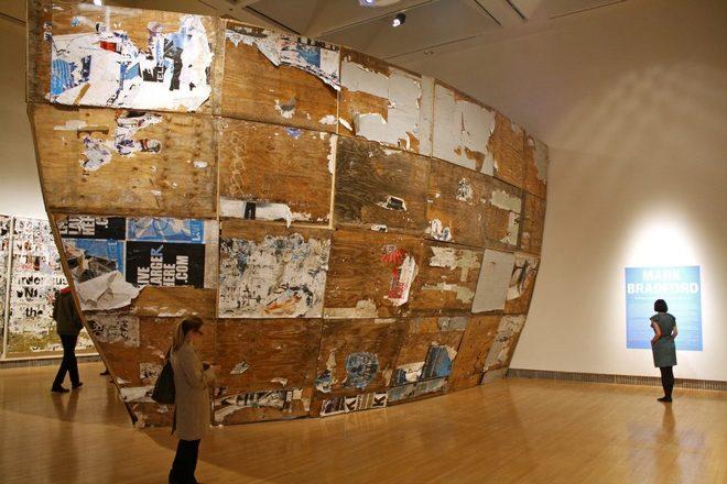 Photo of Mark Bradford Exhibit