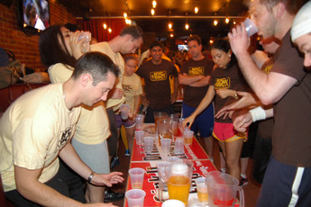 Drinking games at the Village Pourhouse in NY!